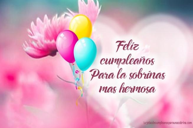 Para Una Sobrina: Feliz Cumpleaños Sobrina Mensaje
