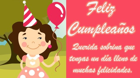 felicitaciones de cumpleaños a una sobrina muy querida