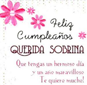 felicitaciones de cumpleaños para una sobrina
