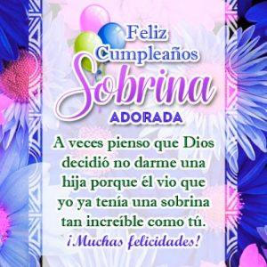 felicitaciones de cumpleaños para una sobrina para Facebook