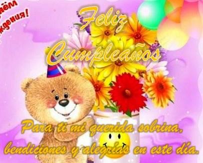 felicitaciones de cumpleaños para una sobrina querida