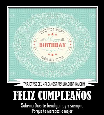 imágenes con frases de feliz cumpleaños sobrina Dios te bendiga