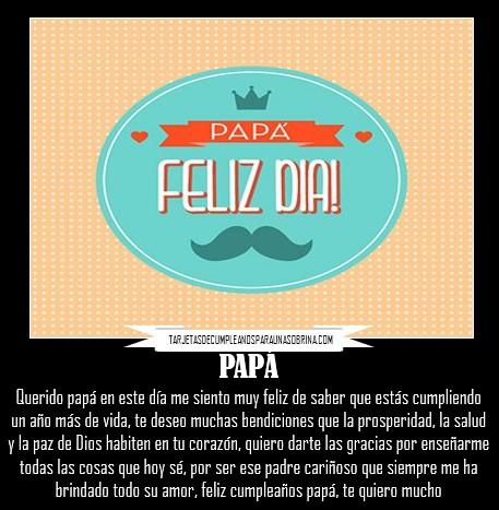 Mensaje de cumpleaños para mi padre