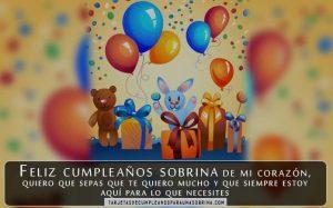 Tarjeta de cumpleaños para una sobrina que está lejos