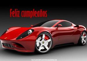 Tarjetas de cumpleaños con imágenes de carros