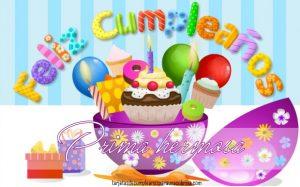 Tarjetas de cumpleaños para primas gratis