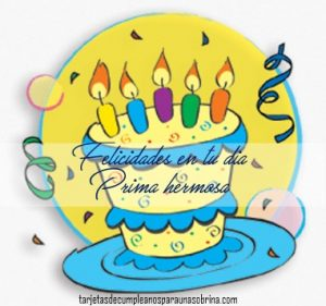Tarjetas de cumpleaños para primas gratis para Facebook