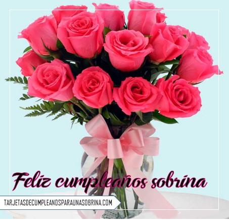 ramo de rosas para cumpleaños de una sobrina