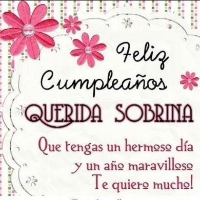 Feliz cumpleaños para mi sobrina