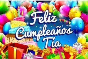Feliz cumpleaños para mi tía