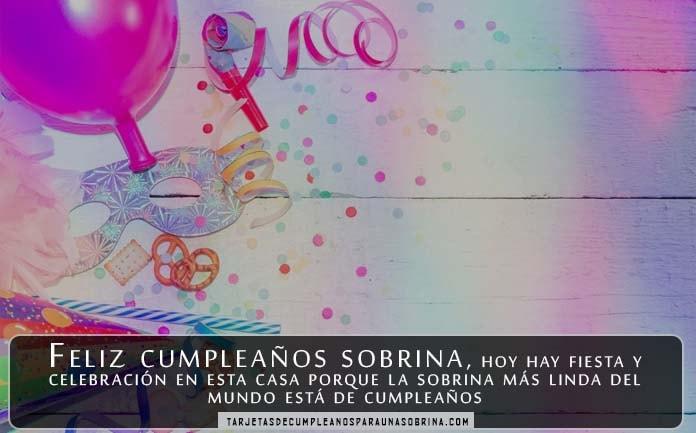 Tarjetas de felicitaciones de cumpleaños para las sobrinas