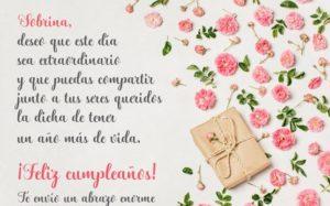 Saludos de cumpleaños para una sobrina