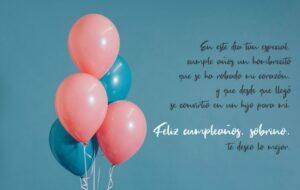 Frases de cumpleaños para un sobrino muy especial