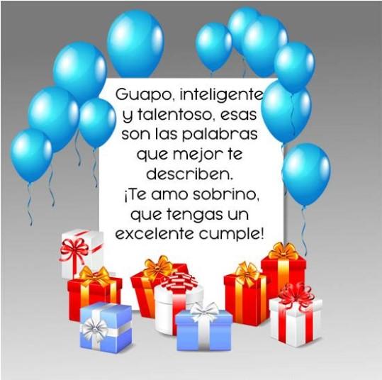 Frases de feliz cumpleaños a un sobrino