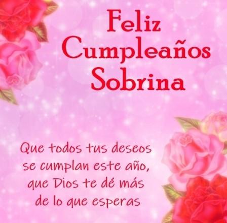 Feliz cumpleaños sobrina hermosa que dios te bendiga