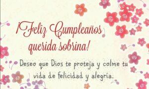 Feliz cumpleaños querida sobrina para compartir