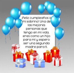 Feliz cumpleaños sobrino que Dios te bendiga
