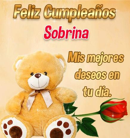 Feliz cumpleaños a mi querida sobrina