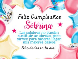 Tarjetas de cumpleaños para compartir con una sobrina
