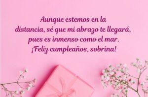 Felicidades en tu cumpleaños sobrina querida