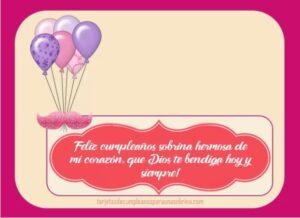 Felicitaciones en tu cumpleaños sobrina querida