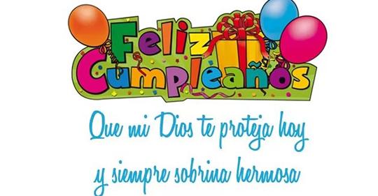 Feliz cumpleaños querida sobrina
