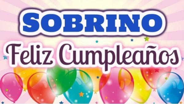 Felicidades en tu cumpleaños sobrino