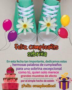 tarjeta de cumpleaños para una sobrina en su dia