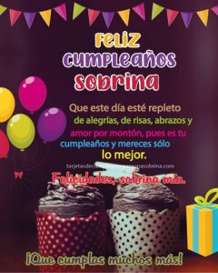 felicitaciones a sobrina por cumpleaños