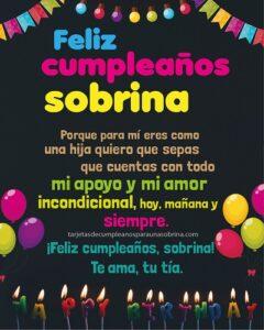 feliz cumpleaños sobrina con amor tu tia