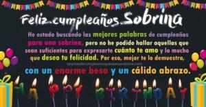 Mensaje de feliz cumpleaños sobrina con amor