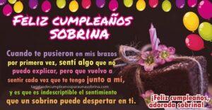 Feliz cumpleaños para sobrina que amo