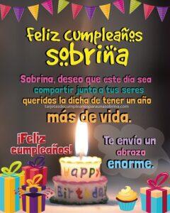 felicidades sobrina por tu cumpleaños