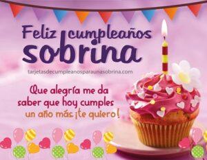 feliz cumpleaños que alegria sobrina