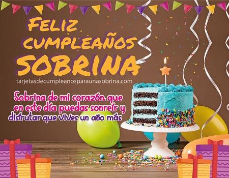 feliz cumpleaños sobrina con pastel