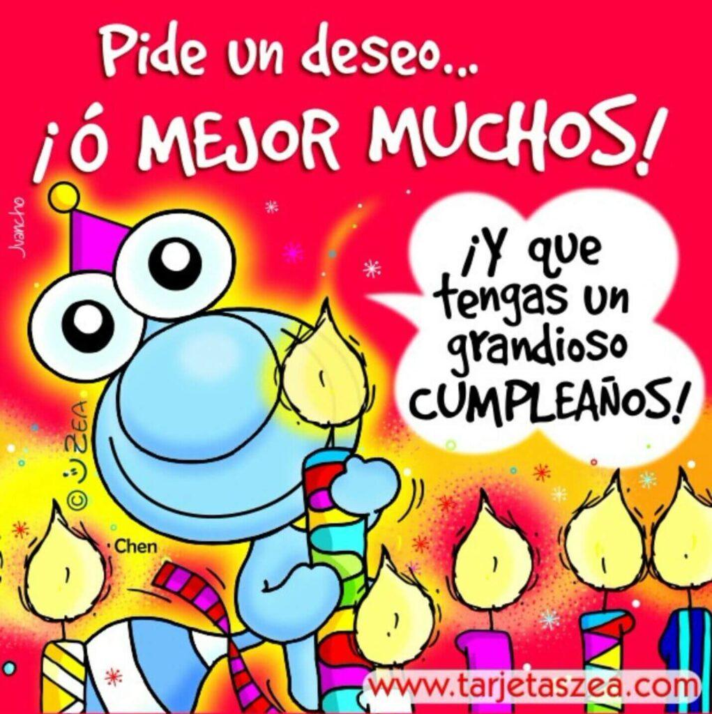 feliz cumpleaños muñequitos con velas