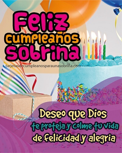 Feliz cumpleaños sobrina que Dios te bendiga