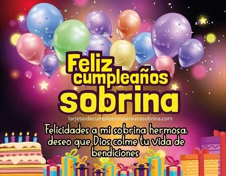 tarjeta de cumpleaño9s sobrina regalos y bombas