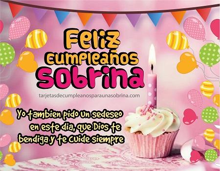 felicidades por cumpleaños sobrina