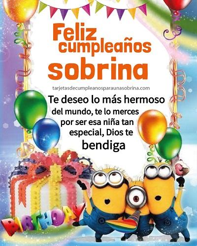 feliz cumpleaños sobrina minions