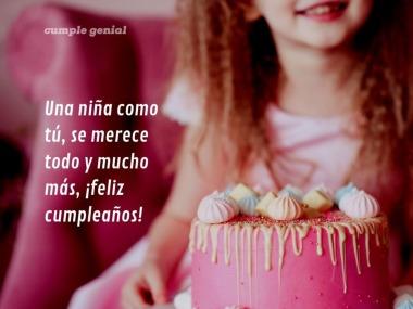 feliz cumpleaños  niña con pastel
