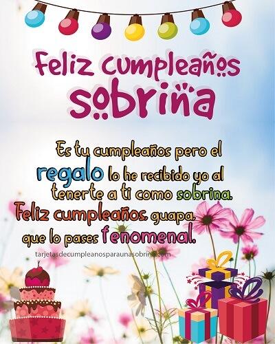 feliz cumpleaños sobrina regalos y flores