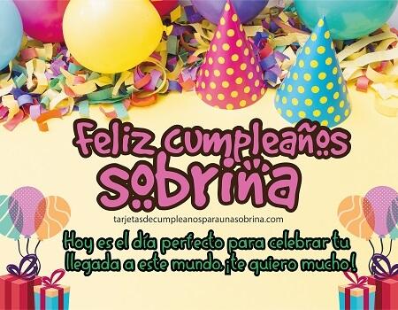 feliz cumpleaños sobrina fiesta con globos