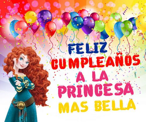 feliz cumpleaños princesa bella