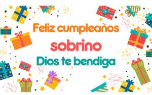 feliz cumpleaños con regalos y bendiciones