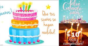 tarjetas de feliz cumpleaños pasteles